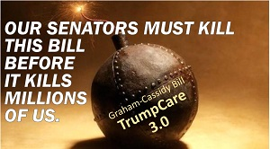Indivisible RI Rhode Island, Graham-Cassidy Graphic