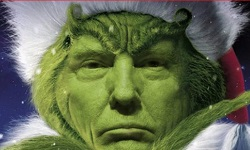 Indivisible RI Rhode Island, Grinch Trump Who Stole Christmas, Trump Tax Scan 2