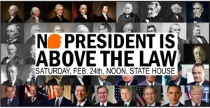 Indivisile RI Rhode Island, NoPresident Is Above The Law