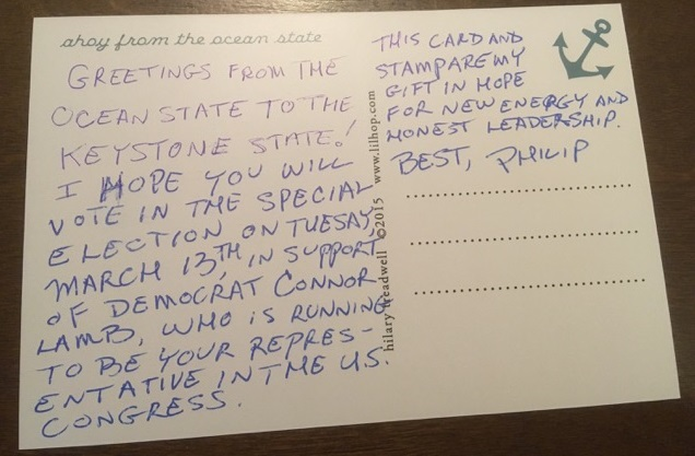 postcards to voters indivisible ri